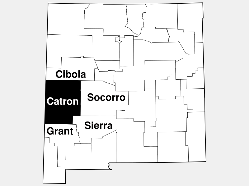 Catron County location map