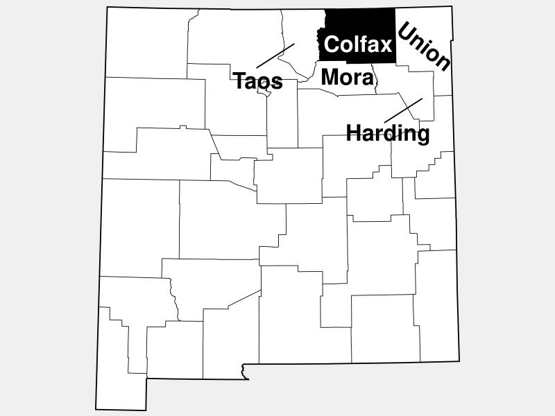 Colfax County locator map