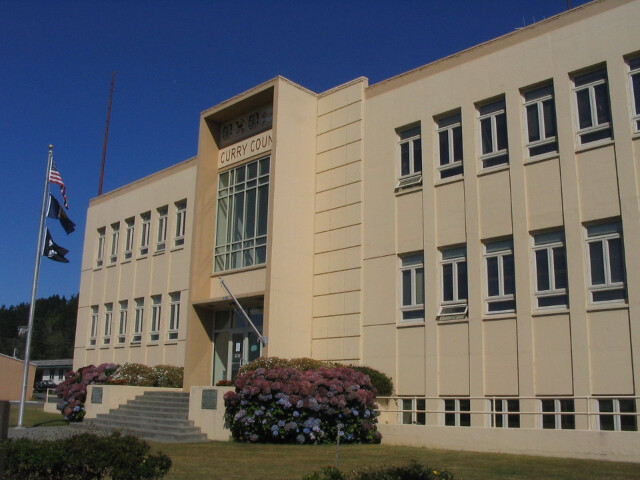 Curry County Courthouse  Gold Beach  Oregon image
