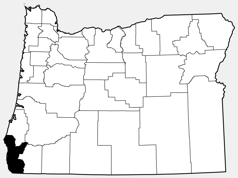 Curry County locator map