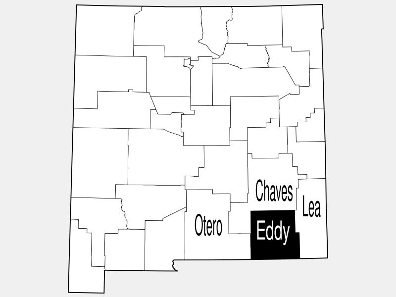 Eddy County locator map