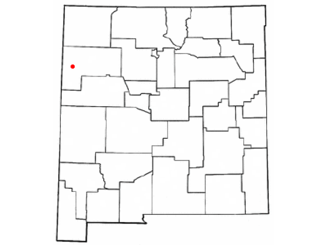 Gallup locator map