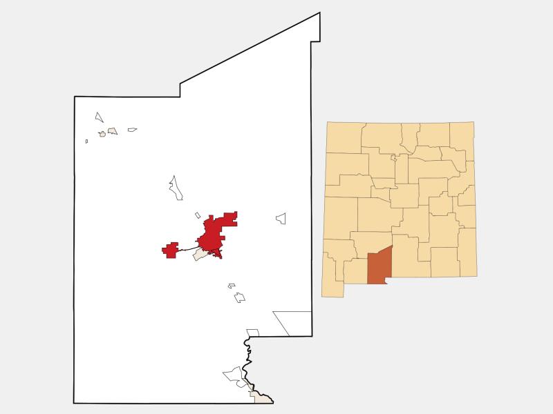 Las Cruces locator map