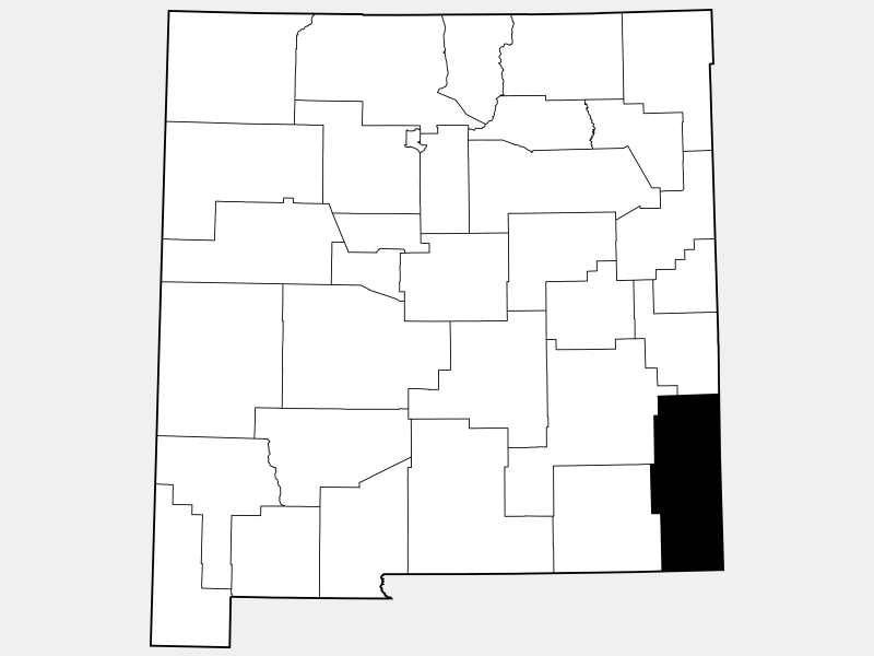 Lea County locator map