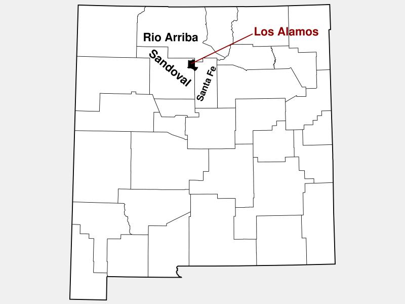 Los Alamos County locator map