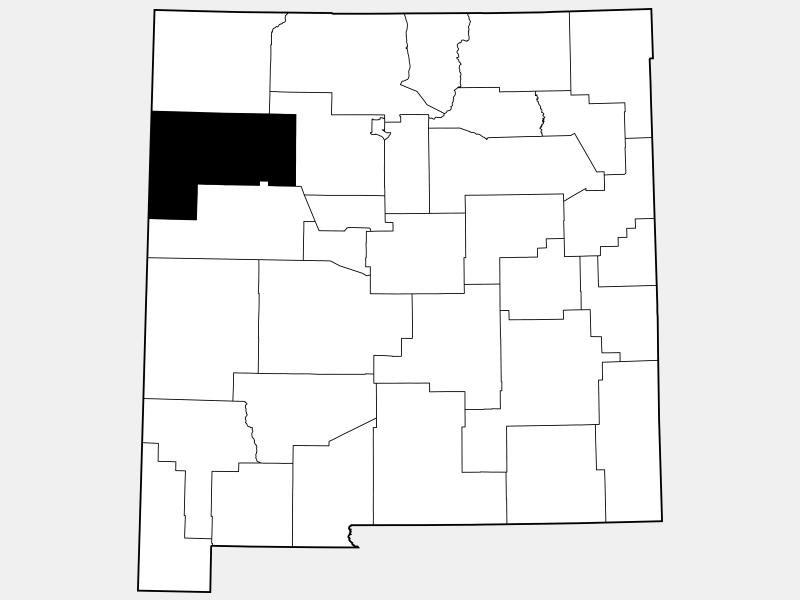 McKinley County locator map