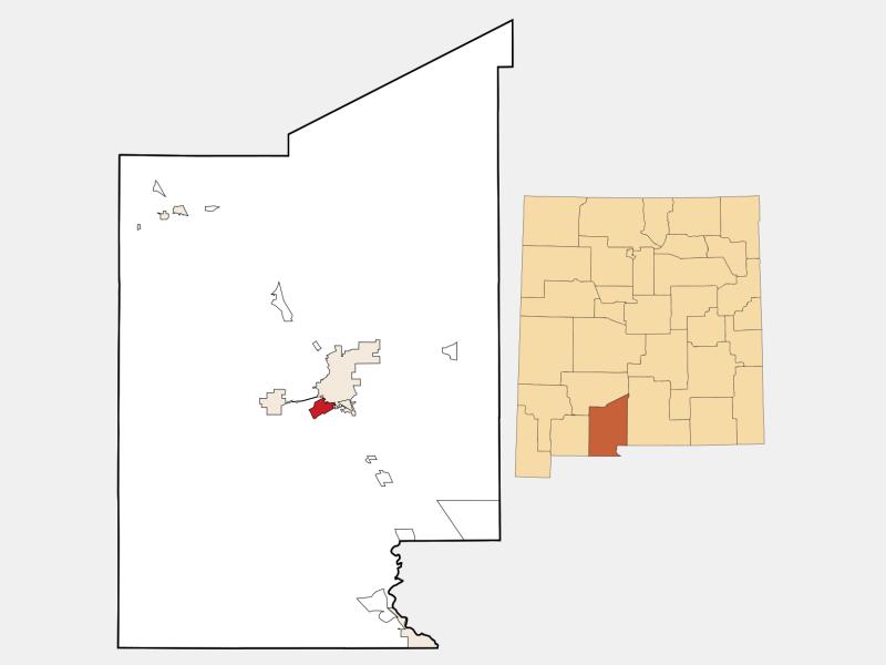 Mesilla location map