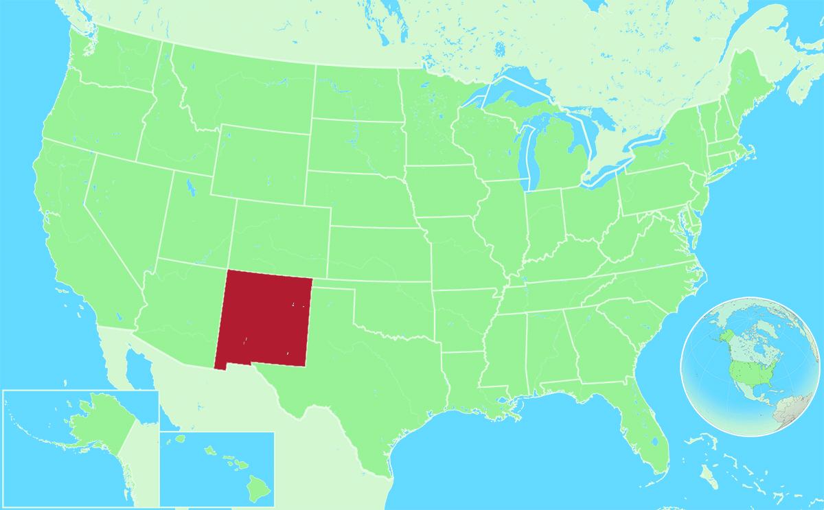 New Mexico locator map