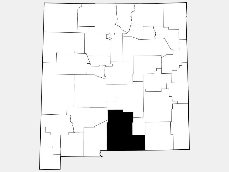Otero County locator map