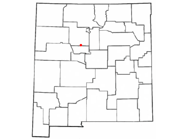 Rio Rancho locator map