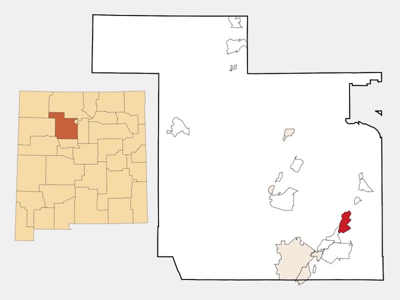 San Felipe Pueblo location map