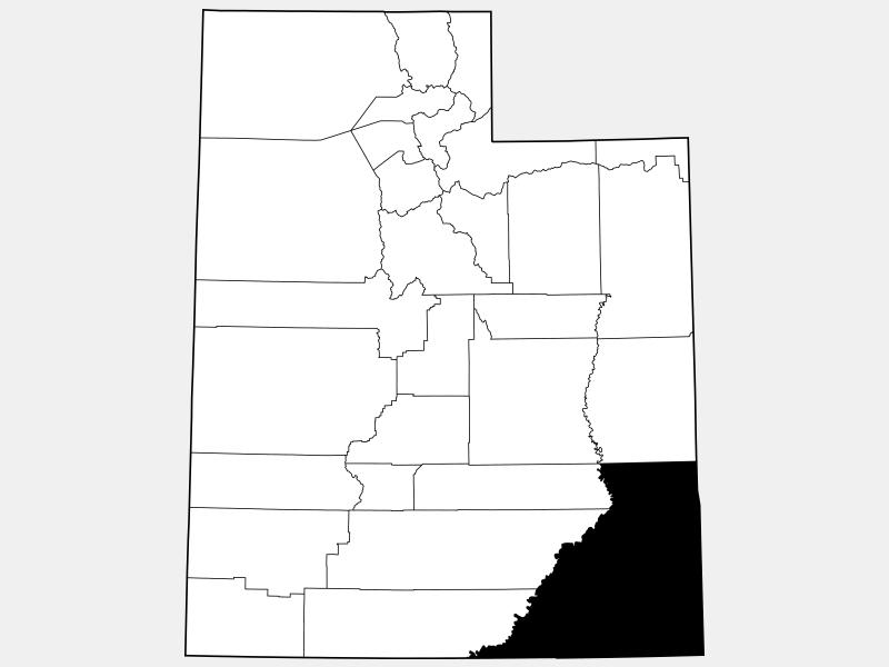 San Juan County locator map