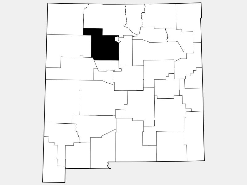 Sandoval County locator map