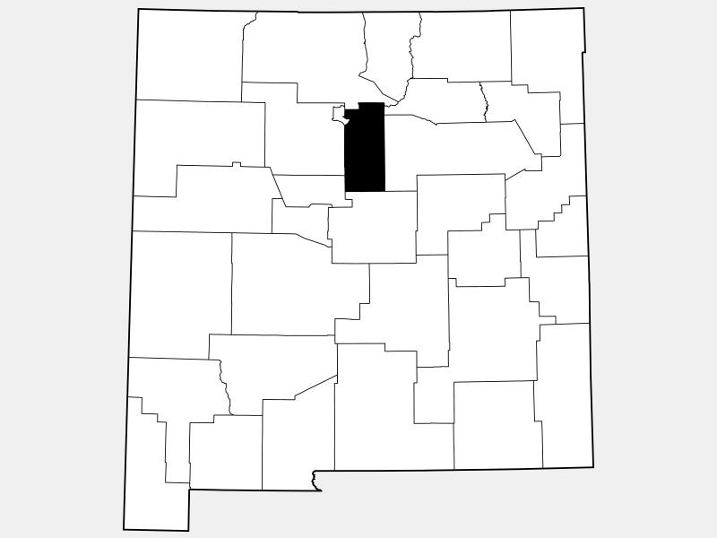 Santa Fe County locator map