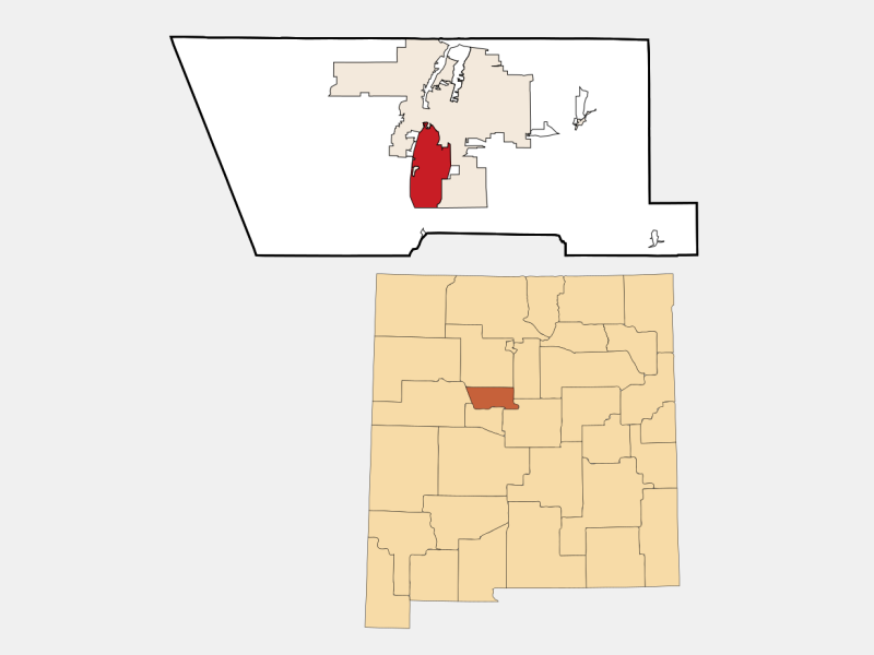 South Valley locator map
