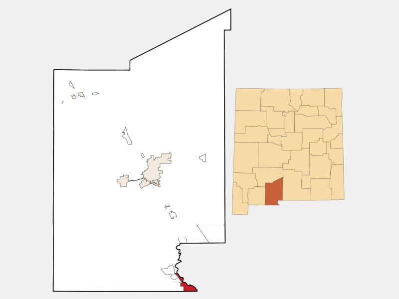 Sunland Park locator map