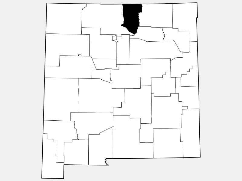Taos County locator map