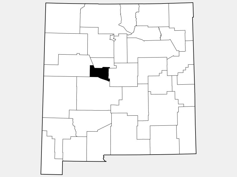 Valencia County locator map