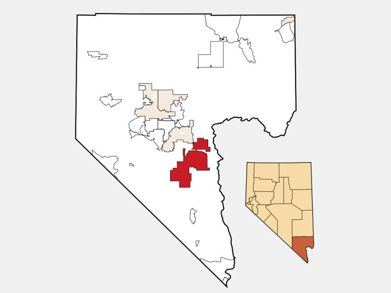 Boulder City locator map