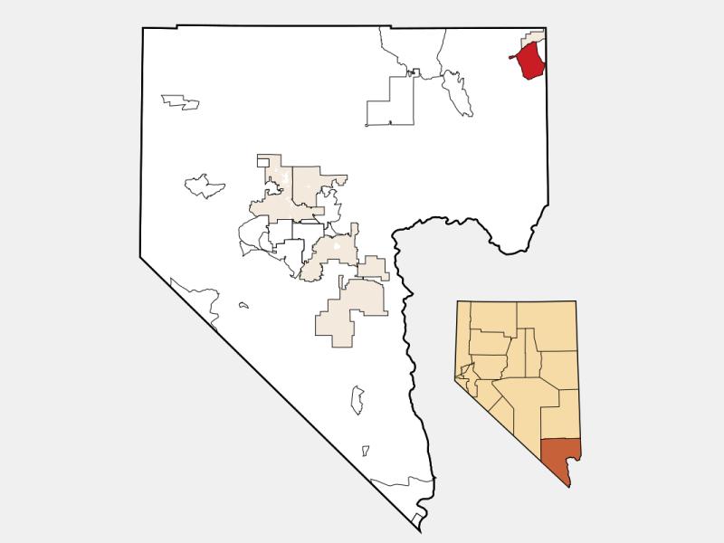 Bunkerville locator map