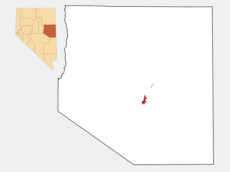 Ely, NV locator map
