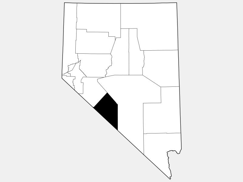Esmeralda County, NV locator map