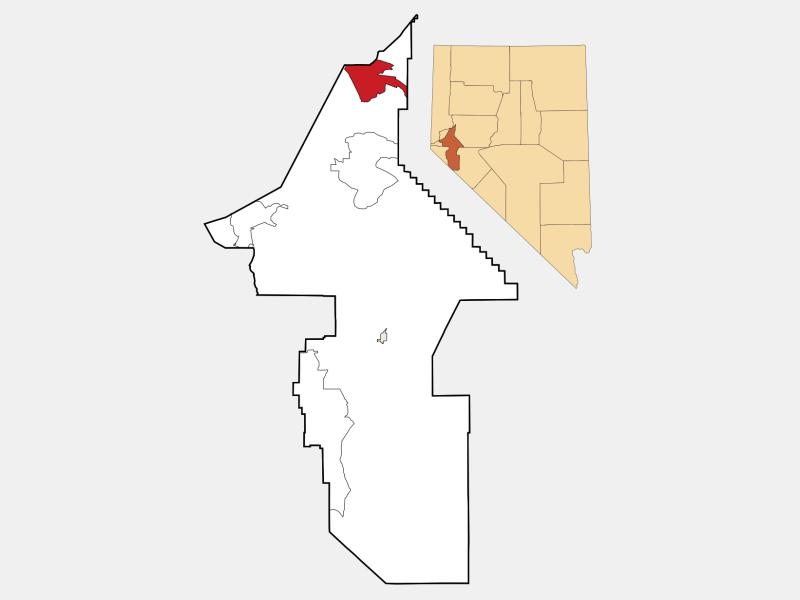 Fernley locator map