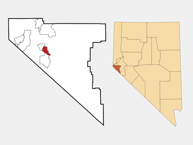 Gardnerville locator map