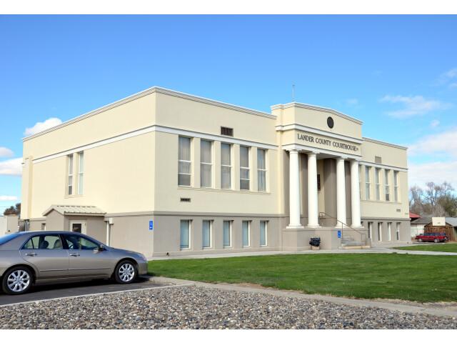 Lander county nevada courthouse image