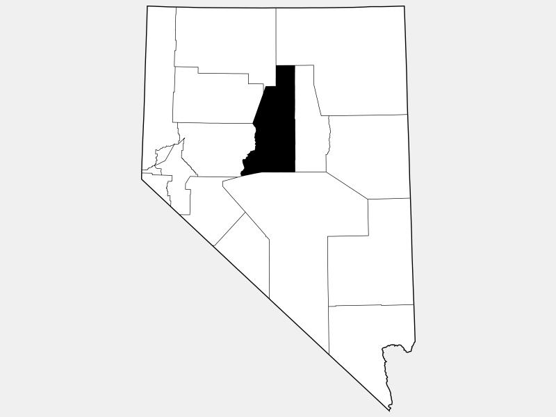 Lander County, NV locator map
