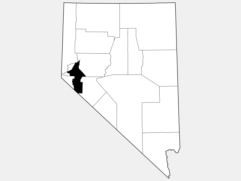Lyon County, NV locator map