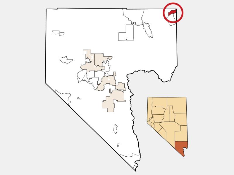 Mesquite locator map