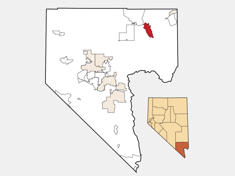 Moapa Valley locator map