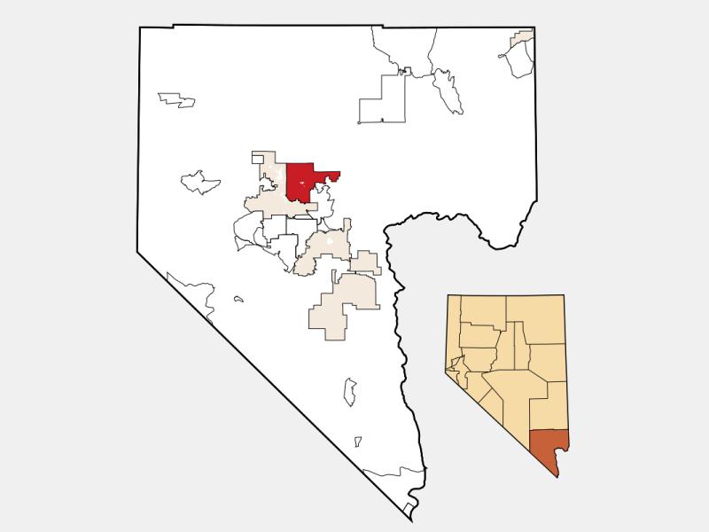 North Las Vegas locator map