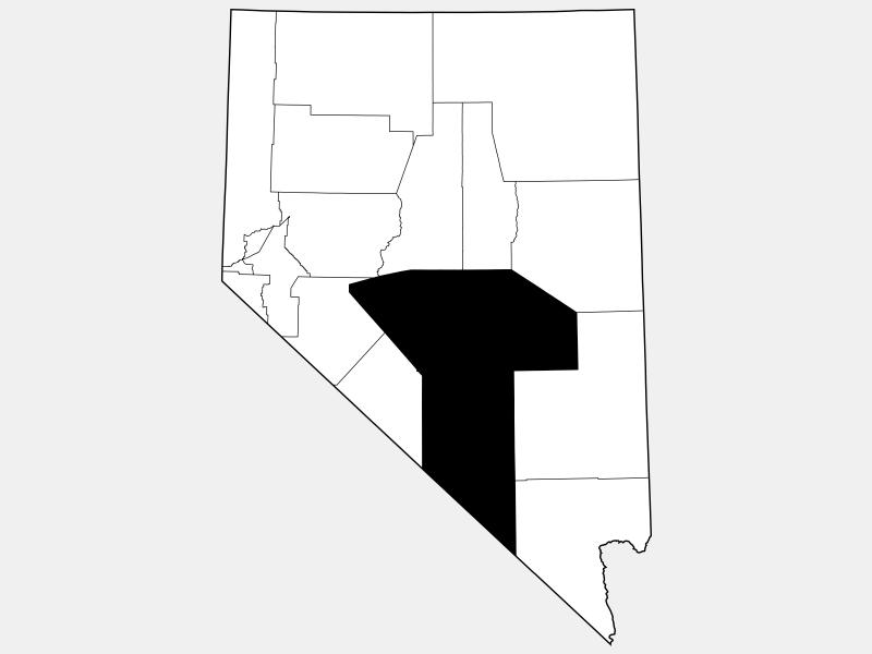 Nye County, NV locator map