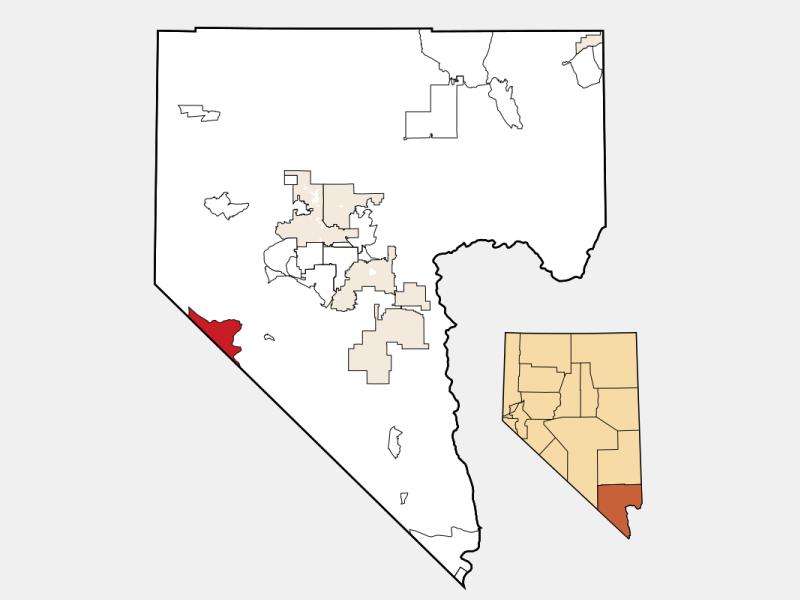 Sandy Valley locator map