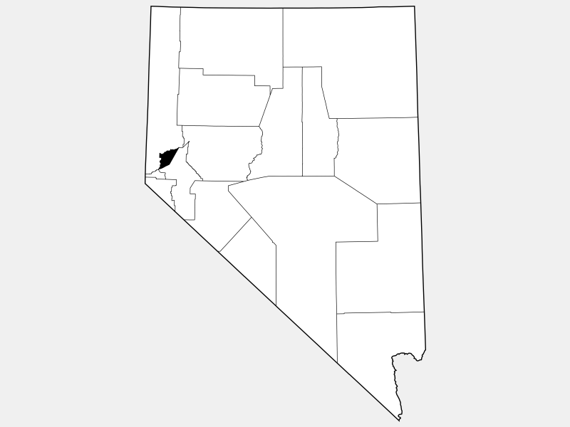 Storey County, NV locator map