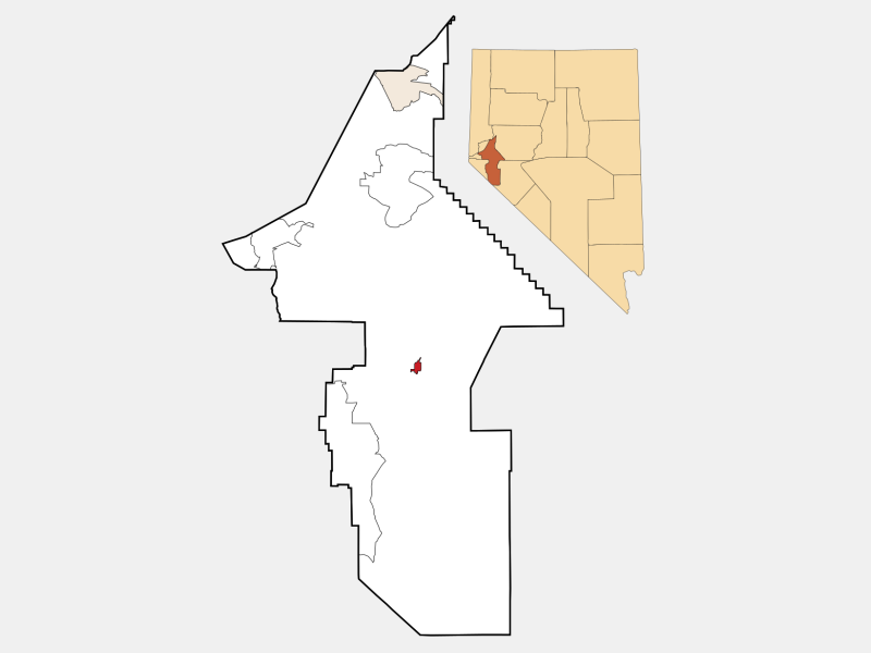 Yerington, NV locator map