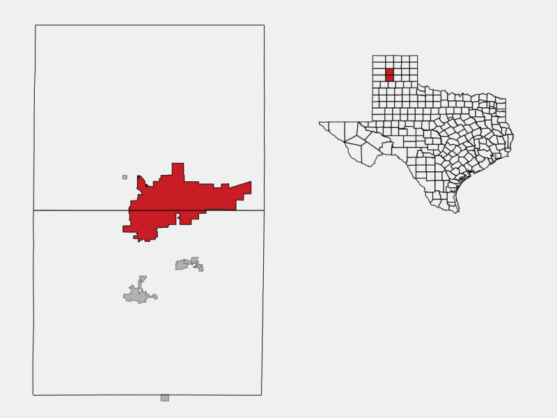 Amarillo, TX locator map