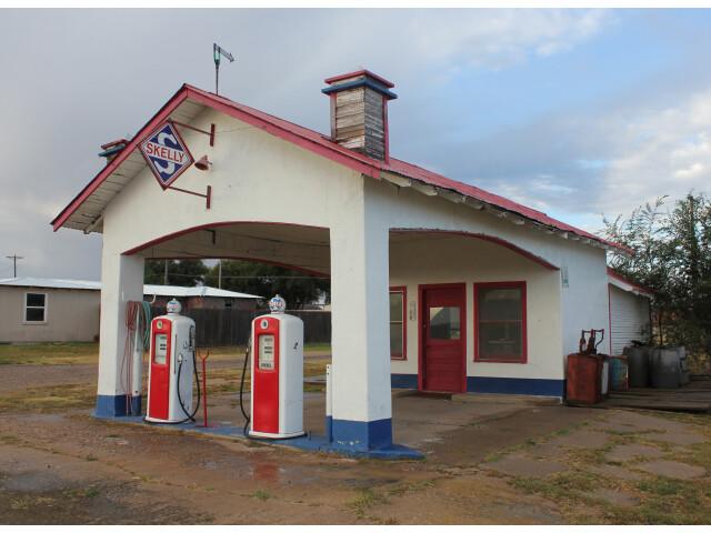 Restored filling station in Skellytown  Texas image