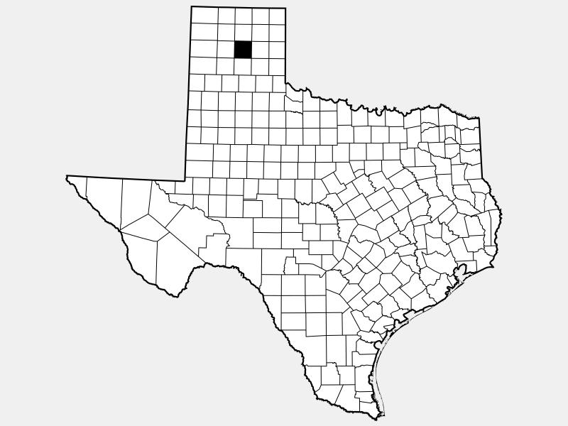 Carson County locator map