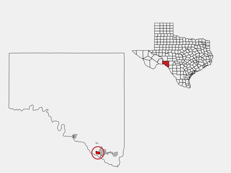 Cienegas Terrace locator map