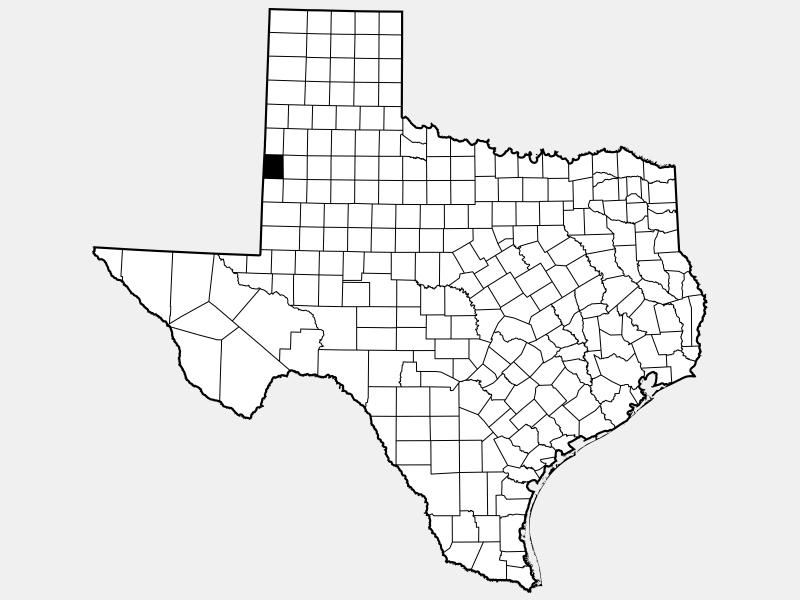 Cochran County locator map