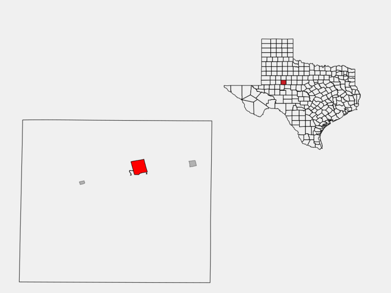 Colorado City locator map