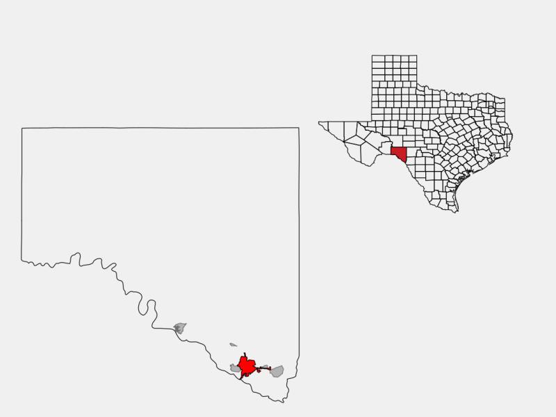 Del Rio locator map