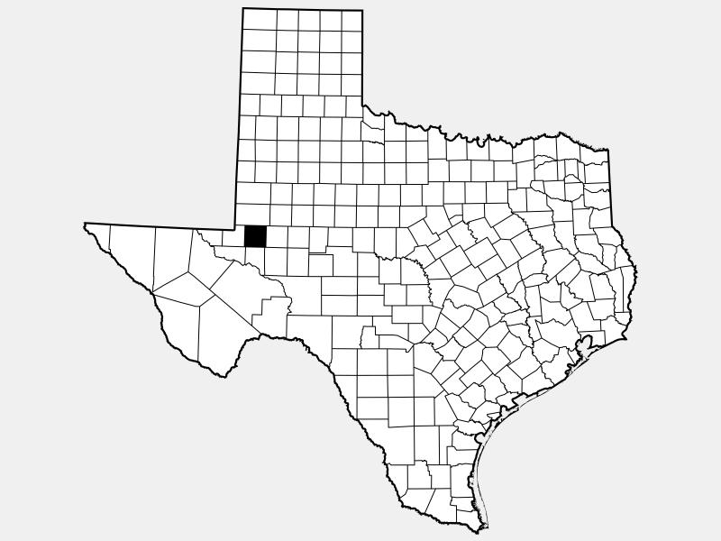 Ector County locator map