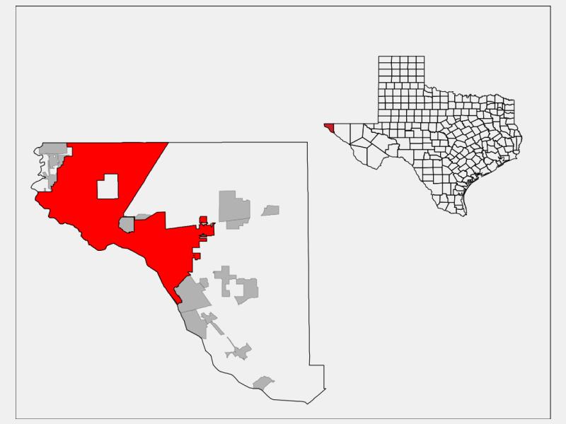 El Paso locator map