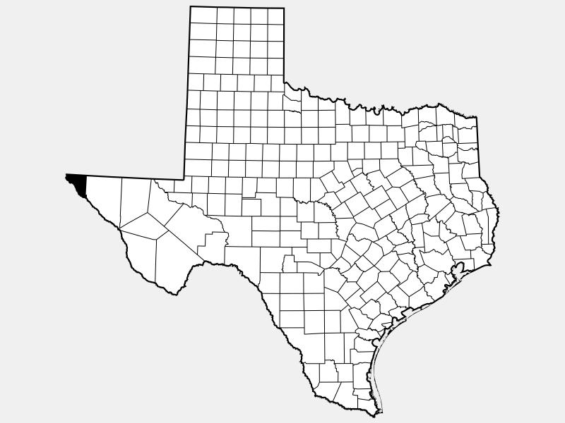 El Paso County, TX locator map