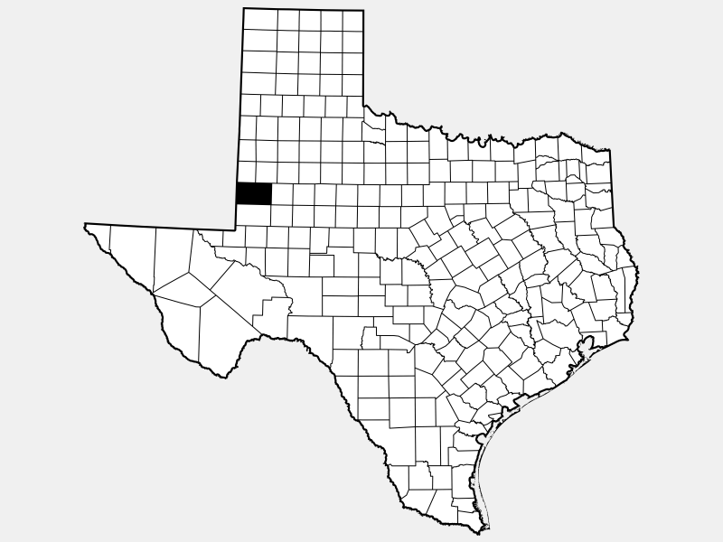 Gaines County locator map