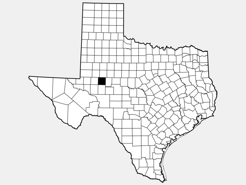 Glasscock County locator map